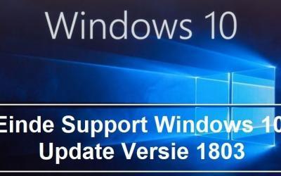 Windows 1803 einde support